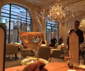 luxury, restaurant, and champagne image