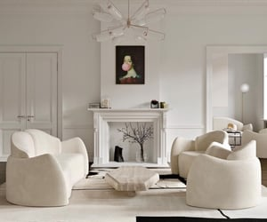 couch, home, and white image