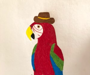 art, parrot, and drawing image