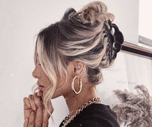hairstyle, accessories, and fashion image