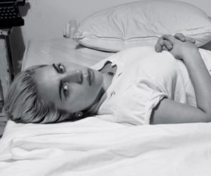 bed, woman, and lg image