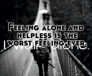 alone, feeling, and loneliness image