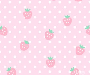 aesthetic, background, and strawberry image