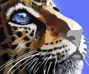 big cat, black and white, and jaguar image