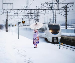 girl, japan, and winter image
