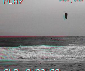 beach, black&white, and play image