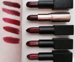 lipstick, makeup, and red image