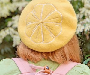 beret, fashion, and flower image