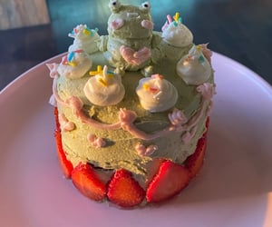 cake, colors, and frog image