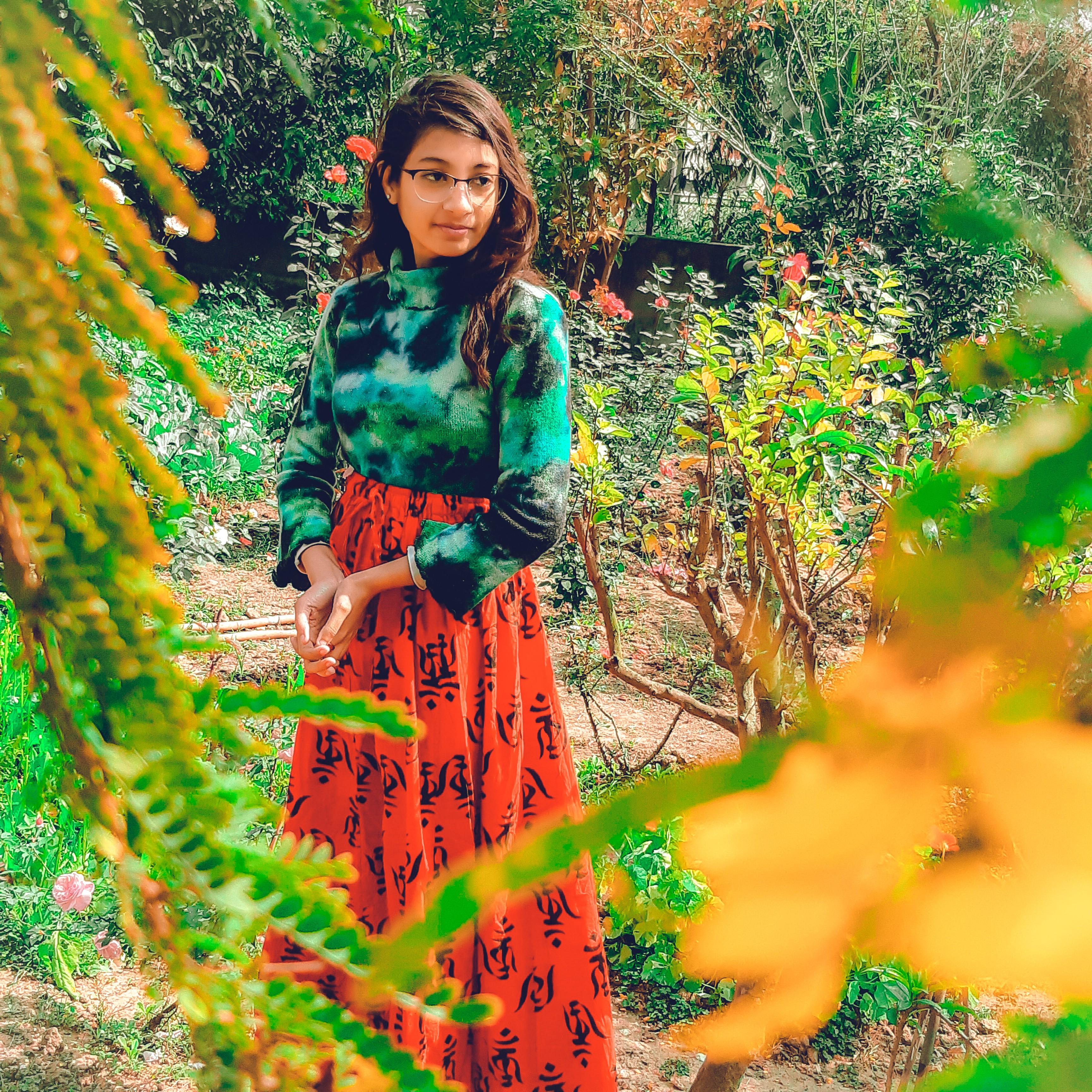fashion blogger, fashion photography, and flowers image