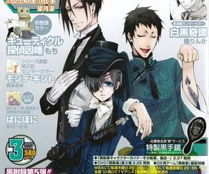 black butler, manga, and sebastian michaelis image