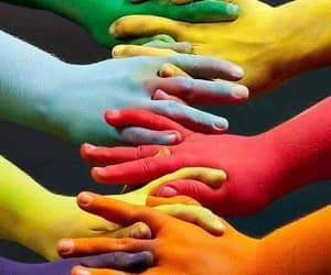 hand art, all the colors, and i'm gonna hold yer hand image
