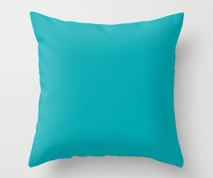 aqua, bedroom, and pillows image