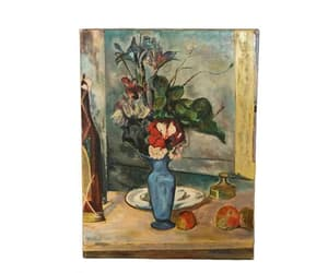 flower art, paul cezanne, and flower painting image