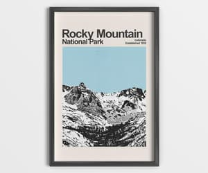 rocky mountain, travel gifts, and national park poster image