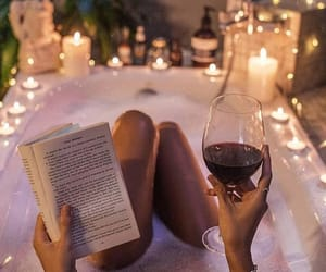 book, candle, and relax image
