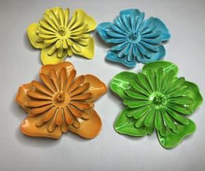 green flower, orange flower, and mod jewelry image