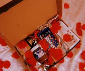 box, chocolate, and snacks image
