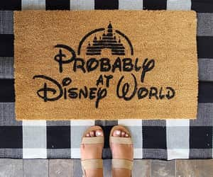 etsy, disney home decor, and disney door mat image