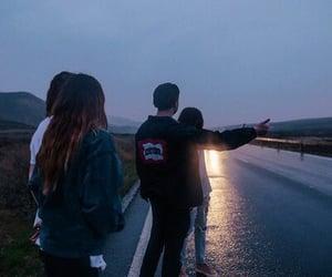 Noche, amigos, and coche image