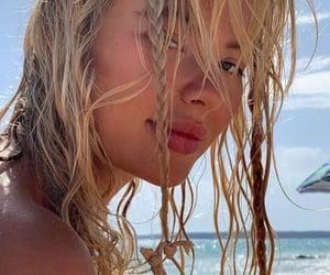 beach, sun, and beach waves image