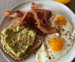 eggs, orange juice, and bacon image