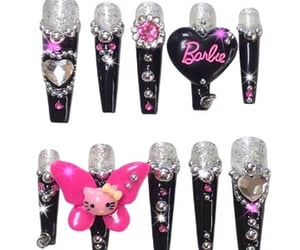 barbie, hello kitty, and nails image