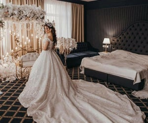 Couture, dress, and white image