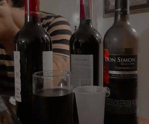 alcohol, comida, and vino image