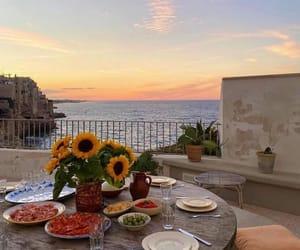 Perfect sunset in Polignano a Mare, Puglia, Italy