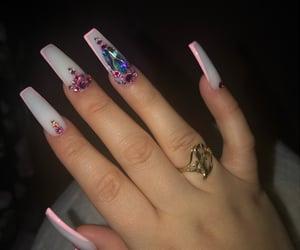 long nails, shiny nails, and nail art image
