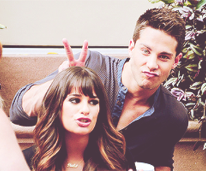 rachel and brody and lea michele. image