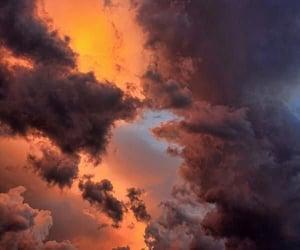 cloud, sun, and sunset image