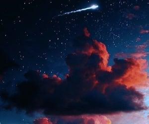 full moon, moonlight, and sky image
