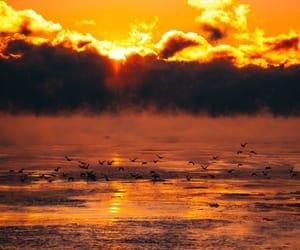 cloud, sun, and ocean image