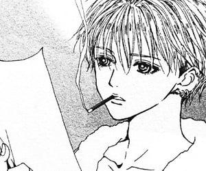 Ai Yazawa, black and white, and cigarette image