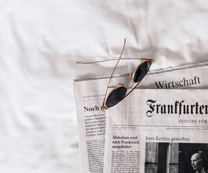 newspaper, aesthetic, and sunglasses image
