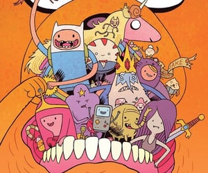 art, JAKe, and adventure time image