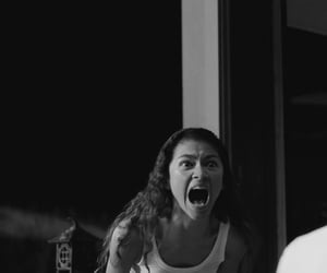 anger, angry, and black & white image