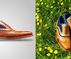 brogues, brogue shoes, and suede shoes image