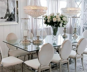 candles, dining room, and white image