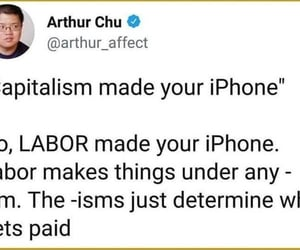 capitalism, iphone, and labor image