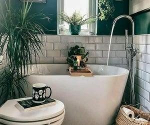 boho, bath, and interior design image
