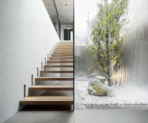home, interior design, and stairs image