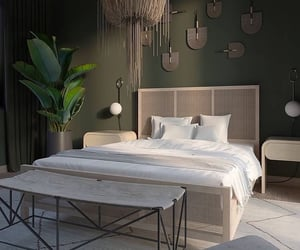 bedroom, home design, and minimalistic image