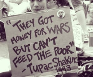 feed the children, them 1st us never, and oil is money image