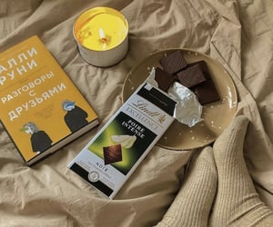 book, brown, and candle image
