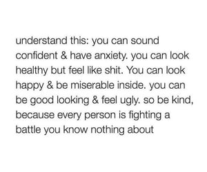 anxiety, beautiful, and confidence image