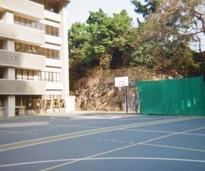 Film Photography, kodak film, and basketball court image