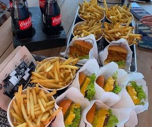 burger, cheeseburger, and coca cola image